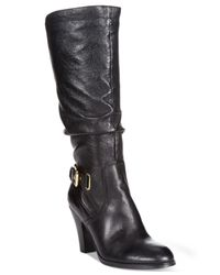 Guess | Black Gandy Leather Lace-up Boot | Lyst