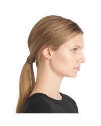 COACH | Metallic Heart Padlock Stud Earrings | Lyst