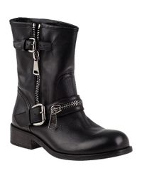 275 Central   1887 Biker Boot Black Leather   Lyst
