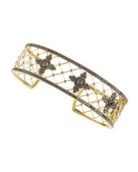 Jude Frances | Metallic Black Diamond Compass Lattice Cuff Bracelet | Lyst