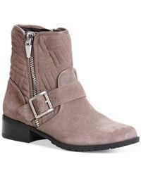 Calvin Klein | Brown Women's Rauline Moto Boots | Lyst