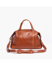 Madewell | Brown The Glasgow Satchel | Lyst