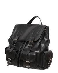 54a5245550 Lyst - Saint Laurent Leather Backpack in Black for Men