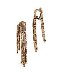 Oscar de la Renta - Metallic Chandelier Earrings - Cry Gold Shadow - Lyst
