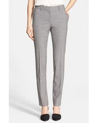 Theory - Gray 'super Slim Edition' Stretch Wool Pants - Lyst