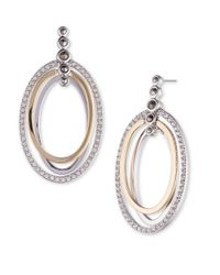 Judith Jack | Metallic Two-tone Oval Drop Earrings | Lyst