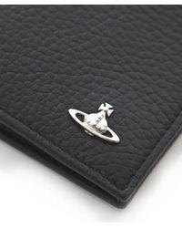Vivienne Westwood | Black Punk Grained Leather Orb Wallet for Men | Lyst