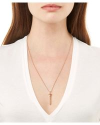 True Rocks | Pink Small Rose Gold Plated Screw Necklace | Lyst
