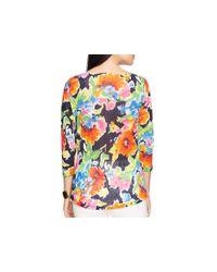 Ralph Lauren   Multicolor Lauren Floral Print Boat Neck Tee   Lyst