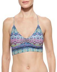Pilyq - Multicolor Strappy-back Midi Halter Swim Top - Lyst