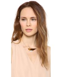 Gorjana - Metallic Mila Necklace  Blackgold - Lyst