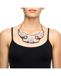 Lulu Frost | Pink Veronica Bib Necklace | Lyst