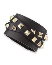 Valentino | Multicolor Multi-Wrap Rockstud Leather Bracelet | Lyst