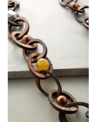 Anthropologie | Brown Woodlink Necklace | Lyst