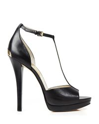 MICHAEL Michael Kors - Brown Open Toe T Strap Platform Sandals - Bloomingdale'S Exclusive Brenna High Heel - Lyst