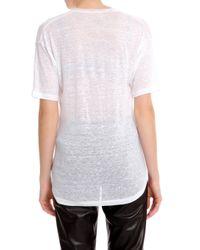 Isabel Marant - White Minea Linen T Shirt - Lyst