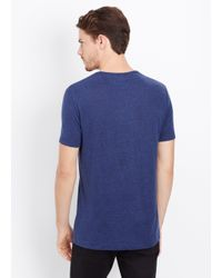 VINCE | Blue Linen V-neck Tee for Men | Lyst