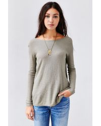 Kimchi Blue - Gray Surplice Back Pullover Sweater - Lyst