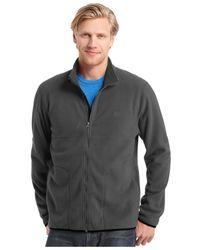 Izod | Gray Big And Tall Full-zip Fleece Jacket for Men | Lyst