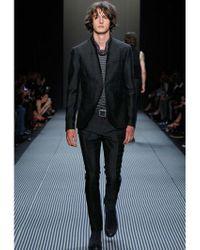 John Varvatos - Gray 19.5cm Animaler Linen & Cotton Pants for Men - Lyst