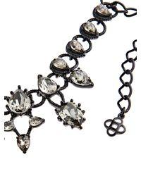 Oscar de la Renta | Black Swarovski Embellished Necklace | Lyst