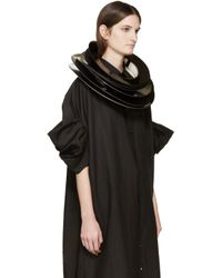 Junya Watanabe | Black Patent Stacked Necklace | Lyst