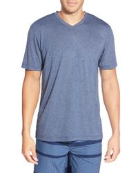 TravisMathew Red | Blue 'uncle Bob' V-neck T-shirt for Men | Lyst