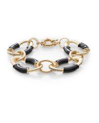 Saks Fifth Avenue - Black Oval Link Bracelet - Lyst