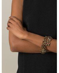 Lanvin   Metallic Heart, Cross, Flower Charm Bracelet   Lyst
