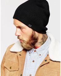 Esprit - Black Beanie In Fine Knit for Men - Lyst