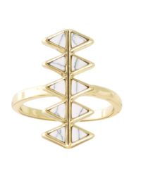 House of Harlow 1960 | Metallic Reflector Bar Ring | Lyst