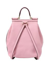 Dolce & Gabbana | Pink Sicily Grained Leather Backpack | Lyst