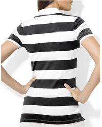 Lauren by Ralph Lauren | White Striped Polo Shirt | Lyst