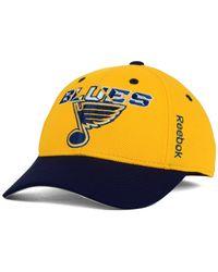 Reebok - Yellow Kids' St. Louis Blues 2nd Season Flex Cap - Lyst