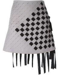 Marco De Vincenzo - Gray Woven A-line Skirt - Lyst