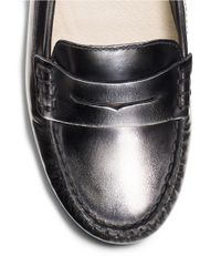 MICHAEL Michael Kors | Metallic Daisy Burnished Specchio Moc Loafers | Lyst