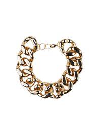 AKIRA - Metallic Bb Gold Oversized Chain Necklace - Lyst