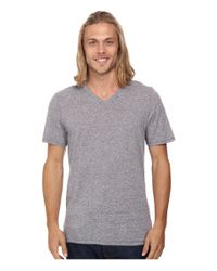 Hurley | Gray Staple Tri-blend V-neck for Men | Lyst