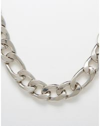 ASOS - Metallic Chain Detail Necklace for Men - Lyst