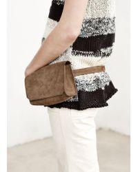 Mango - Gray Premium - Linen-Blend Knit Top - Lyst