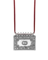 Lucky Brand | Red Modern Shine Shield Necklace | Lyst