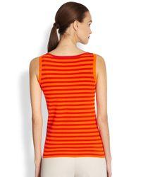 Akris Punto - Orange Knit Striped Tank - Lyst