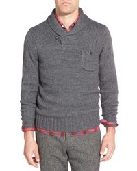Bonobos | Gray Shawl Collar Pullover Sweater for Men | Lyst