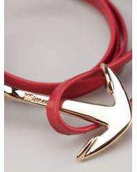 Miansai | Red Anchor Bracelet | Lyst