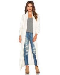 Tejido | White Sweater Coat | Lyst