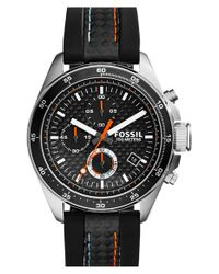 Fossil - Black 'decker' Chronograph Watch for Men - Lyst