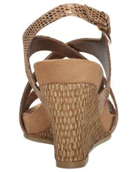 Aerosoles - Brown Plushed Together Dress Wedge Sandals - Lyst