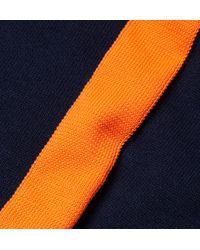 Alexander Wang - Blue Contrast-Striped Cotton Sweater for Men - Lyst