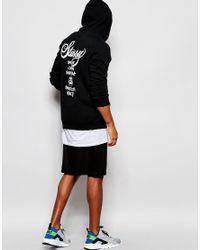 Stussy | Black World Tour Cotton Blend Sweatshirt for Men | Lyst