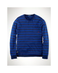 Polo Ralph Lauren | Blue Striped Cotton Jersey T-shirt for Men | Lyst